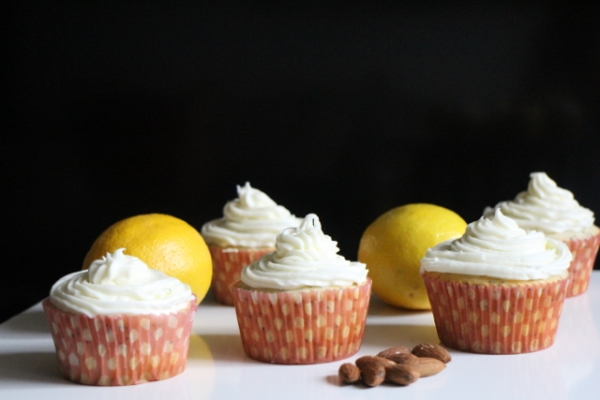 Lemon-Poppy Seed Cupcakes with Almond Cream Cheese Frosting