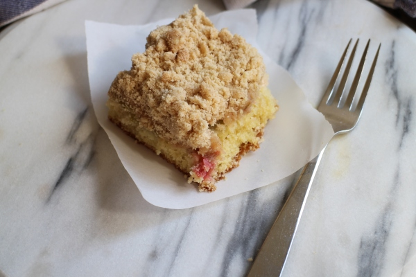 Rhubarb Coffee Crumb Cake
