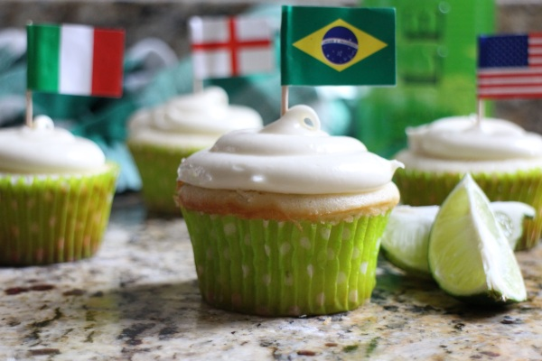 "Caipirinha Cupcakes with Cachaça Buttercream (a.k.a ""The World Cupcakes"")"