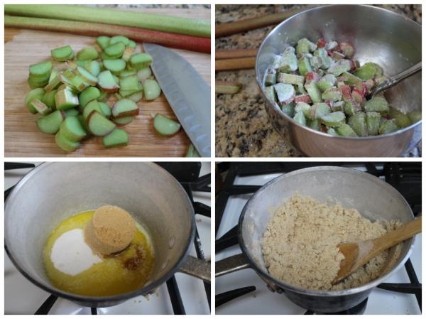 Rhubarb Coffee Cake Prep 1