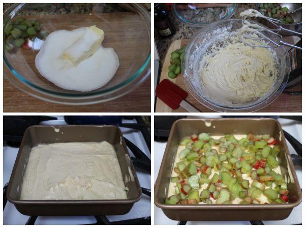 Rhubarb Coffee Cake Prep