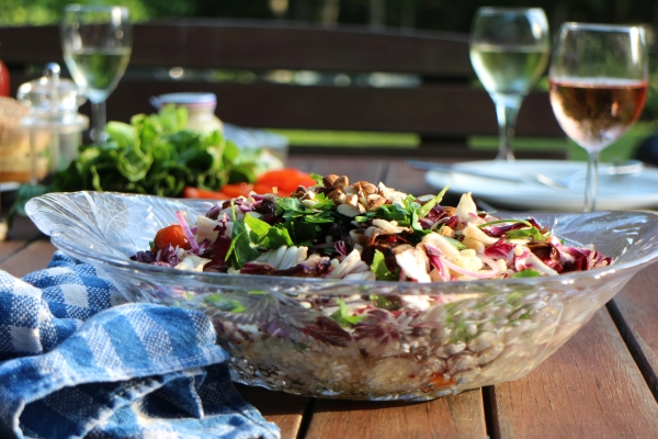 Israeli Couscous and Grilled Tomato Salad