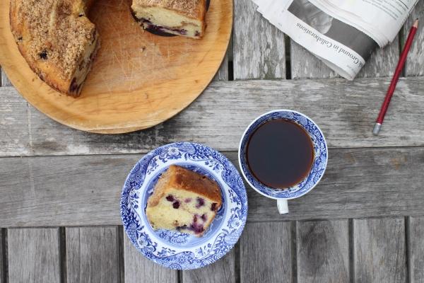Blueberry Coffee Crumb Cake