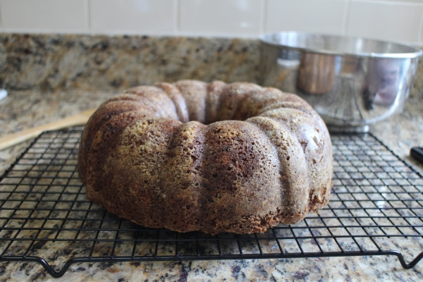 Carrot Bundt Cake with Maple Cream Cheese Frosting