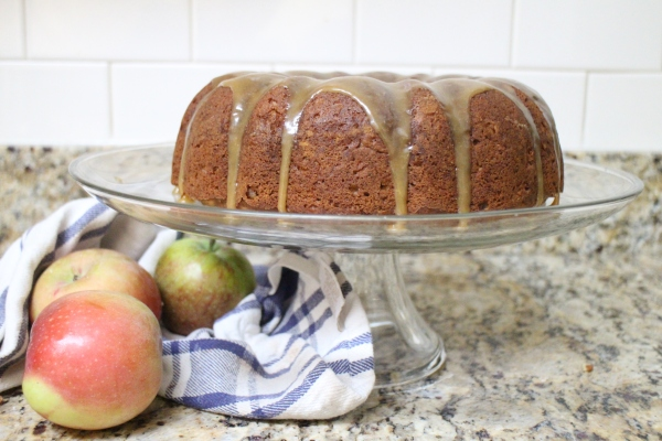 Apple Butter Bundt with Cider Caramel Glaze