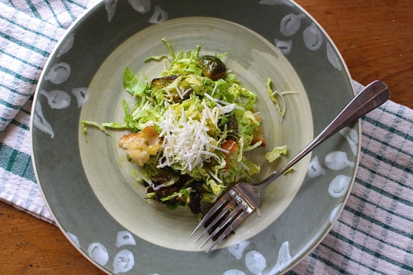 Brussels Sprouts Salad with Creamy Caesar Dressing