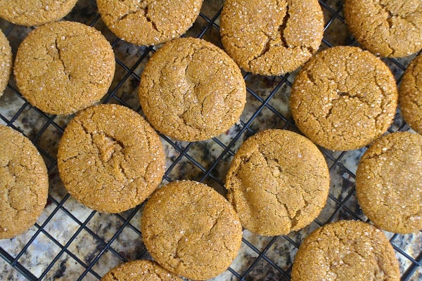 Bourbon Molasses Cookies