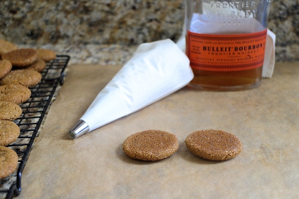 Bourbon Molasses Cookies with Bourbon Italian Meringue Buttercream
