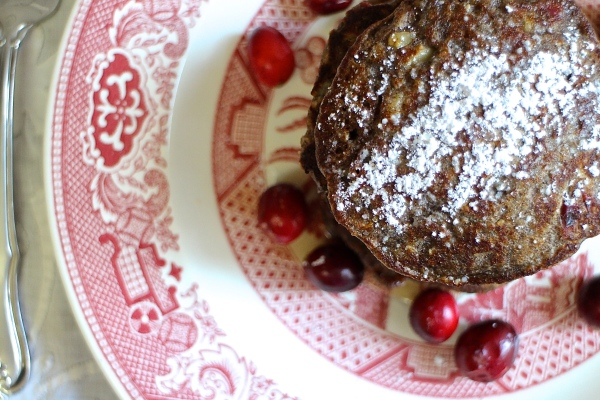 Cranberry Walnut Buckwheat Pancakes